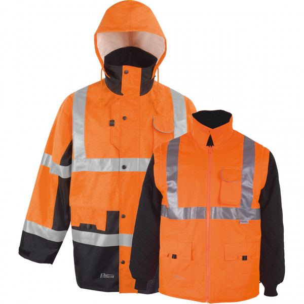 Warnschutz-Parka Winter Orange von Prevent.