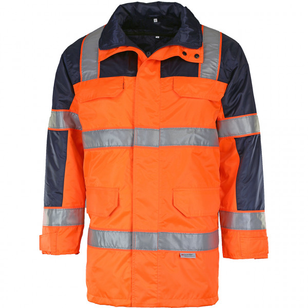 Warnschutz-Parka Orange-Blau
